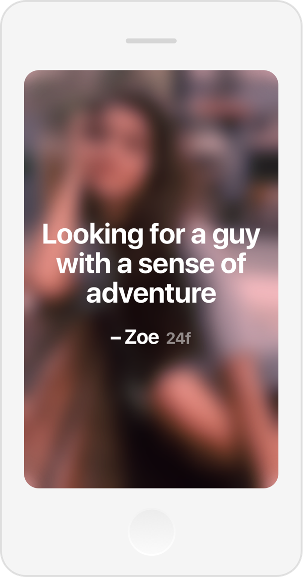 Looking for a guy with a sense of adventure.